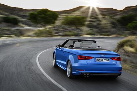 Крыша кабриолета Audi A3 может быть сложена за 18 секунд. Фото 1
