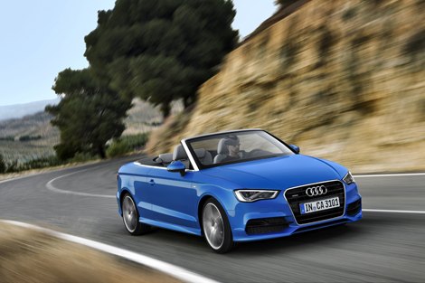 Крыша кабриолета Audi A3 может быть сложена за 18 секунд. Фото 2