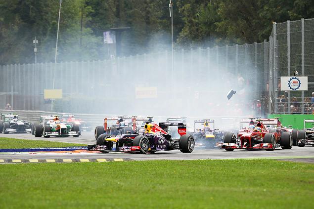 Себастьян Феттель победил в Италии, но болельщики это не оценили. Фото 1