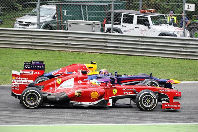 Себастьян Феттель победил в Италии, но болельщики это не оценили. Фото 2