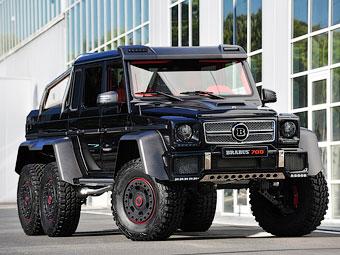 Brabus сделал шестиколесный Mercedes-Benz G 63 AMG 700-сильным