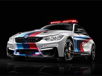 BMW M4 превратили в машину безопасности для мотогонок