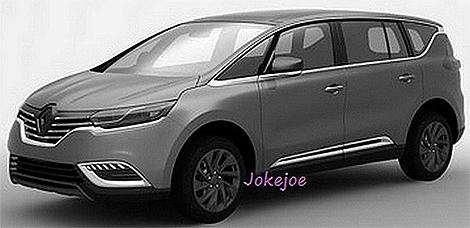 В интернете появились патентные изображения следующего Renault Espace. Фото 2