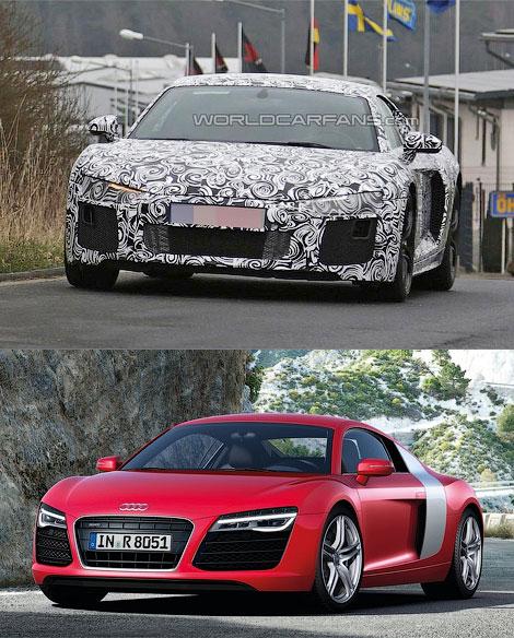В интернете появились первые фотографии Audi R8 следующего поколения. Фото 1