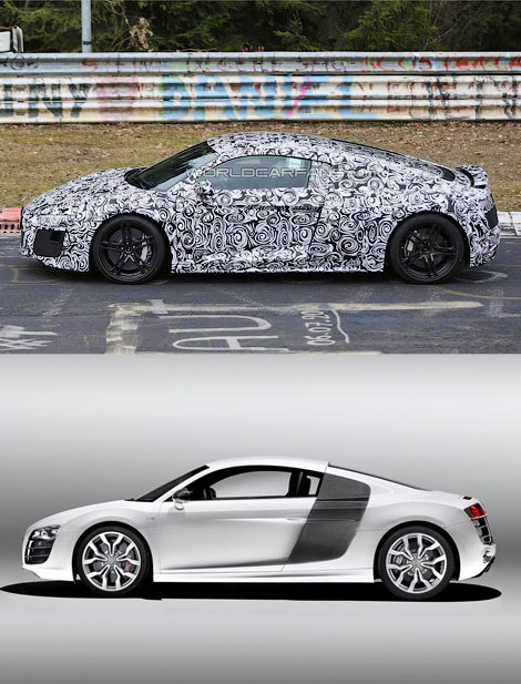 В интернете появились первые фотографии Audi R8 следующего поколения. Фото 2