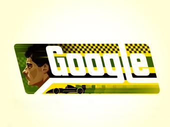 Google посвятил новый дудл Айртону Сенне