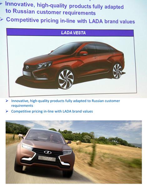 В интернете появились изображения седана Lada Vesta