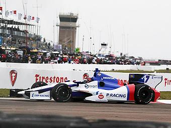 Алешин стал лучшим из новичков в дебютной гонке INDYCAR