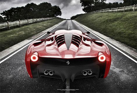 """Фирма Ugur Sahin показала изображения своего суперкара на базе """"Италии"""""""