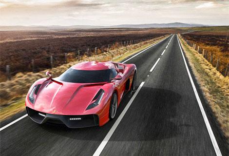"""Фирма Ugur Sahin показала изображения своего суперкара на базе """"Италии"""". Фото 1"""