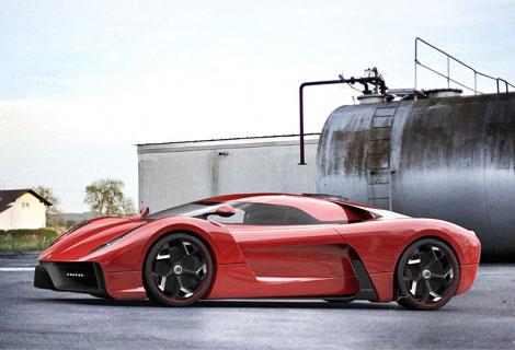 """Фирма Ugur Sahin показала изображения своего суперкара на базе """"Италии"""". Фото 2"""