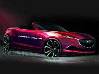 Появилось первое изображение нового родстера Mazda MX-5