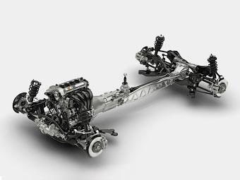 «Мазда» рассекретила шасси следующего родстера MX-5