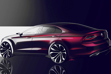 """Появились изображения """"cреднеразмерного купе"""" Volkswagen"""