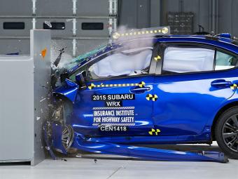 Новый седан Subaru WRX прошел первый краш-тест