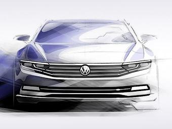 Volkswagen частично рассекретил новый Passat