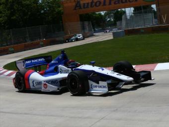 Алешин занял седьмое место в детройтской гонке INDYCAR