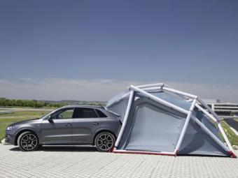 Audi превратила кроссовер Q3 в машину для туристов