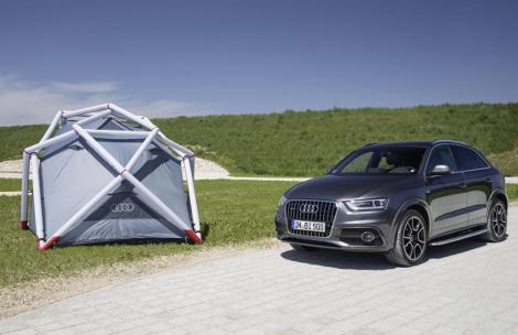 Вседорожник оснастили надувной палаткой и креплениями для байдарки. Фото 1