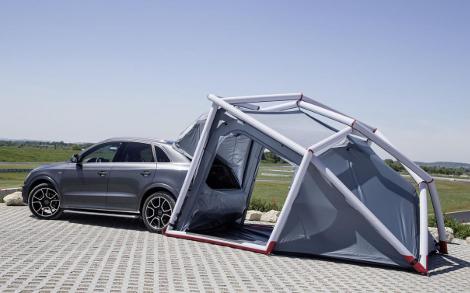 Вседорожник оснастили надувной палаткой и креплениями для байдарки. Фото 2