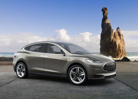 Электрический внедорожник Tesla Model X появится в 2015 году. Фото 1