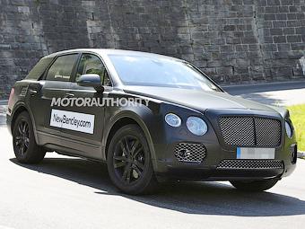 Шпионы впервые сфотографировали внедорожник Bentley