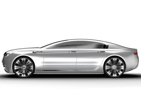 В Великобритании показали дизайн-макет премиального седана 2020 года