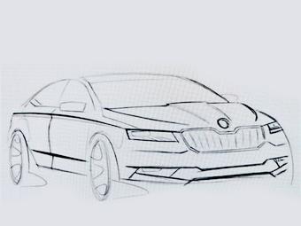 В Сети рассекретили дизайн новой Skoda Superb