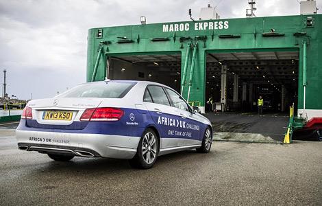 Седан E 300 BlueTEC преодолел без дозаправки почти две тысячи километров