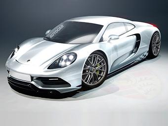 Porsche построит суперкар с восьмицилиндровым оппозитником