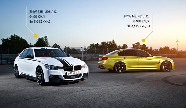 """Насколько новая BMW M3 окажется круче """"гражданской"""" 335i?"""