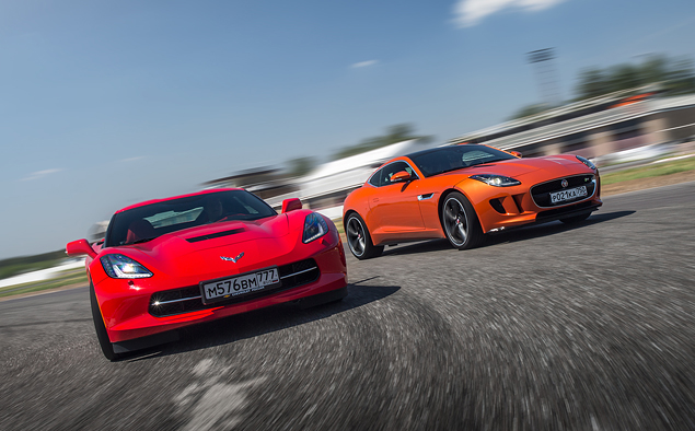 Где делают самые крутые суперкары: тест Chevrolet Corvette, BMW M4, Jaguar F-Type и Nissan GT-R. Фото 9