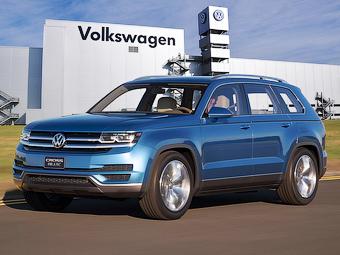 Volkswagen одобрил запуск в серию семиместного кроссовера