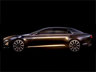 Aston Martin показал силуэт нового седана для арабов