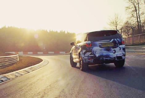 """Самый мощный Range Rover проехал """"Северную петлю"""" за 8 минут 14 секунд"""