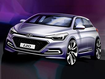 Компания Hyundai показала облик следующего хэтчбека i20
