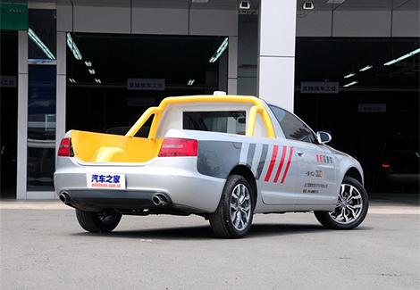 Дилер Audi сделал пикап из разбитого седана A6 с удлиненной базой