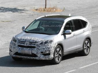 Обновленный кроссовер Honda CR-V заметили на тестах