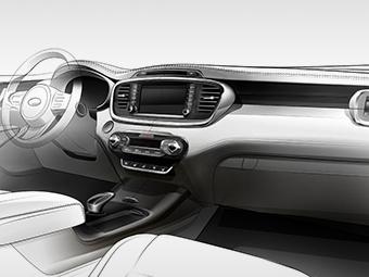 Компания Kia показала интерьер нового Sorento