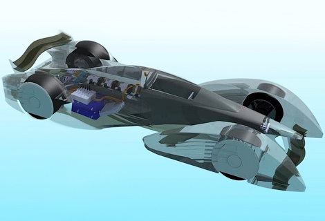 Ателье Quimera представило проект гоночного электромобиля. Фото 1