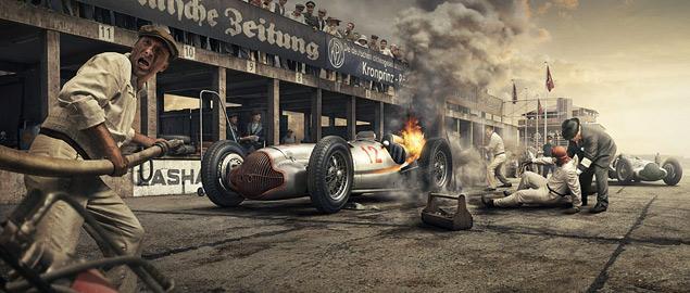 Фотореконструкция знаковых гонок «Серебряных стрел». Фото 8