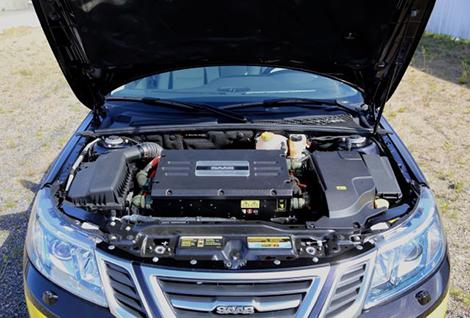 """Электрический Saab 9-3 разгоняется до """"сотни"""" за десять секунд. Фото 1"""