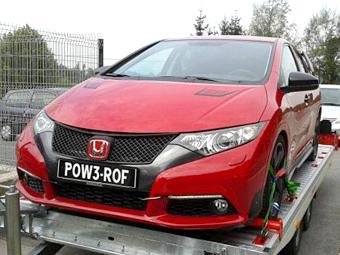 Появились новые фотографии Honda Civic Type R