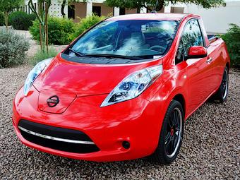 Инженеры Nissan превратили электрокар Leaf в пикап