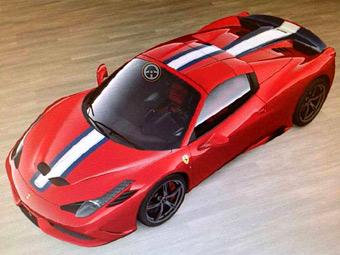 """В секретном конфигураторе Ferrari нашли """"заряженный"""" родстер"""