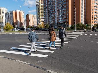 В Москве появились диагональные «зебры»