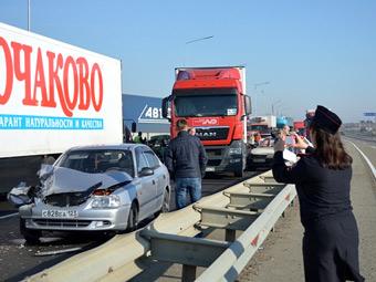 В Краснодарском крае столкнулись 50 автомобилей
