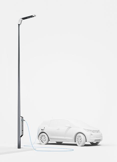 Немцы разработали светодиодные фонари с розетками для электромобилей