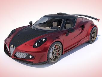 Alfa Romeo 4C оснастят 738-сильным битурбо мотором Ferrari