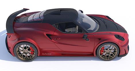 Ателье Lazzarini Design представило проект тюнинга спорткупе 4C